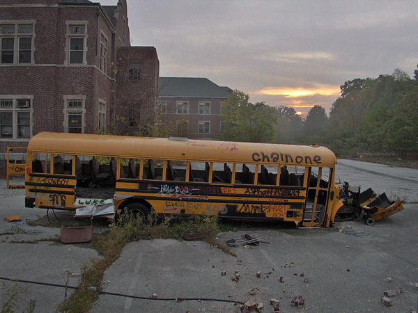 Abandoned school bus, Pennhurst